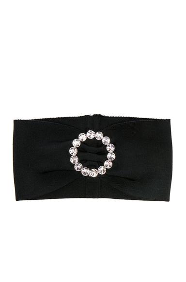 Alessandra Rich Buckle Headband in Black