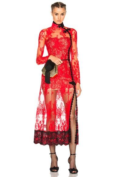 Alessandra Rich Empress Dress in Red
