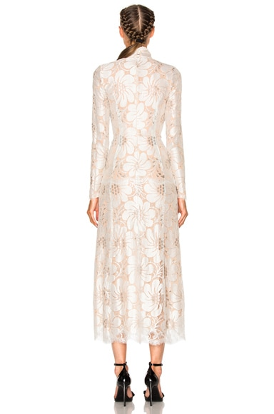 EXCLUSIVE L'Amant Chantilly Embellished Lace Dress