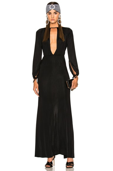 Jersey Deep V Gown