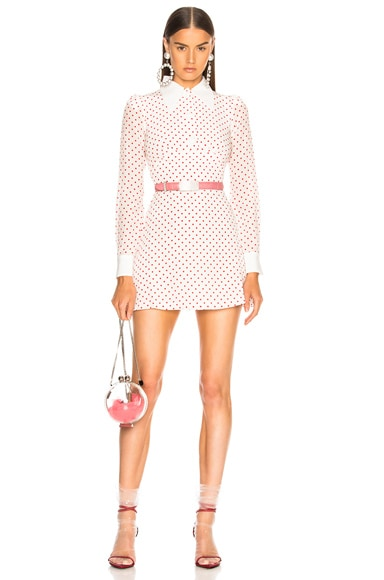 for FWRD Polka Dot Mini Dress
