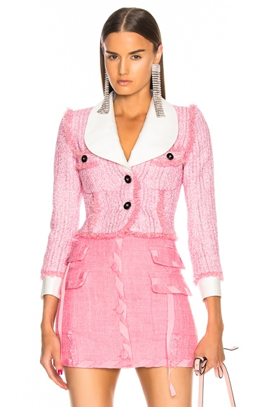 Lurex Tweed Mini Jacket
