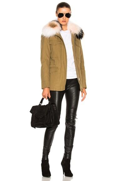 Cotton Jacket with Raccoon Fur
