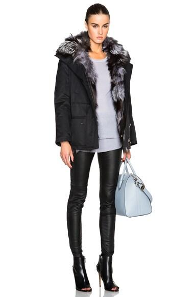 Short Gap Parka With Fox Fur