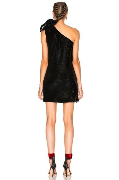 Sequin Shoulder Bow Dress