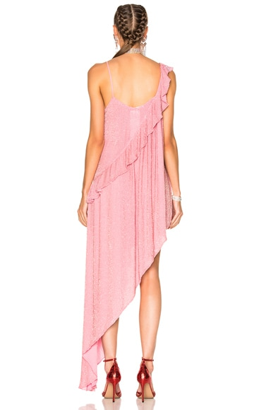 Beaded Asymmetrical Ruffle Dress