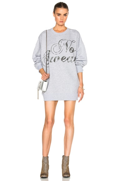 Ashish Swirly No Sweat Sweatshirt Dress in Grey