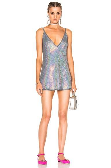 Sequin V Neck Backless Dress