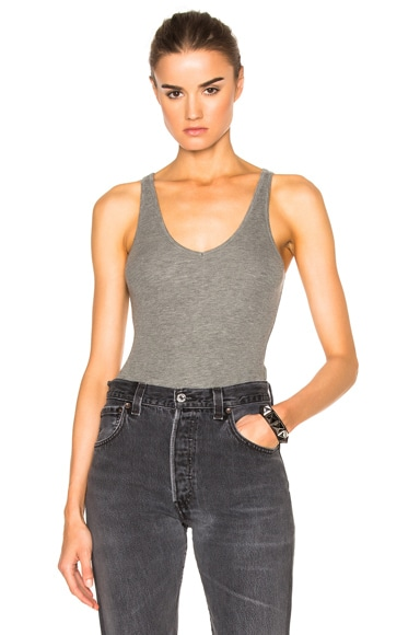 V Neck Tank Bodysuit