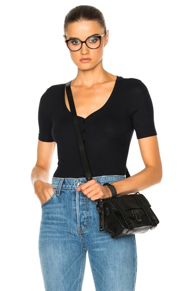 ATM Anthony Thomas Melillo Henley Bodysuit in Black