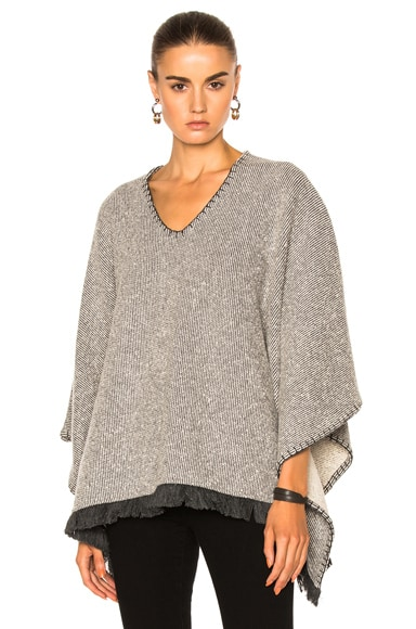 ATM Anthony Thomas Melillo Poncho in Gray Natural