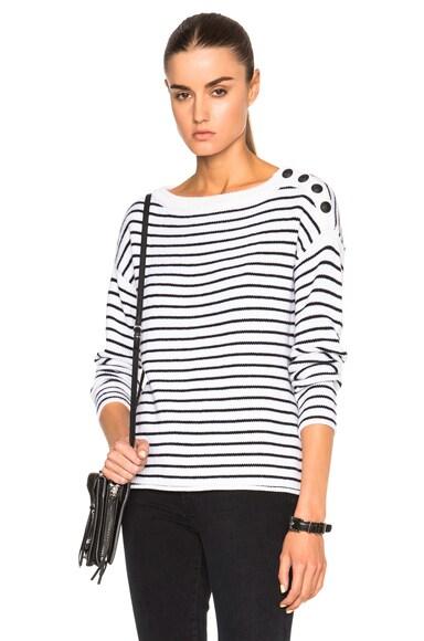ATM Anthony Thomas Melillo Striped Sailor Sweater in Black & White