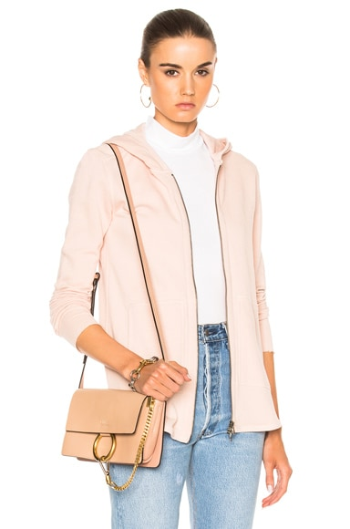 ATM Anthony Thomas Melillo French Terry Zip Front Jacket in Blush