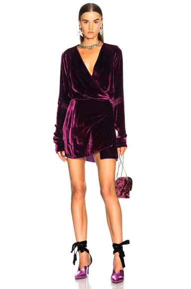 Alexa Velvet Short Dress