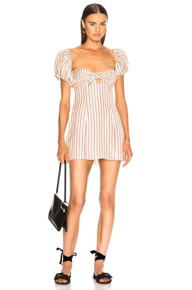 Striped Short Dress