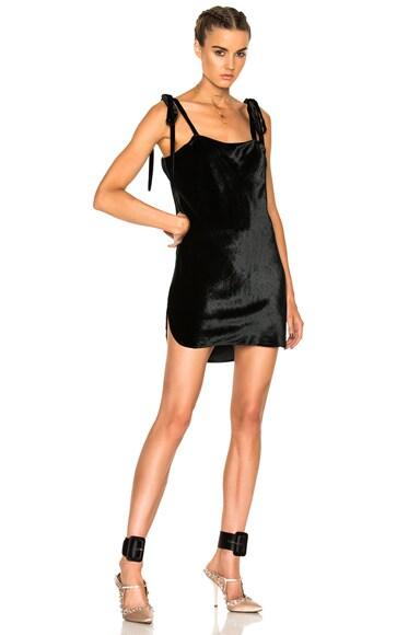 ATTICO Sabrina Velvet Dress in Black