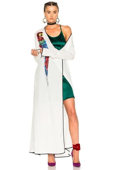 ATTICO Raquel Parrot Dress in White