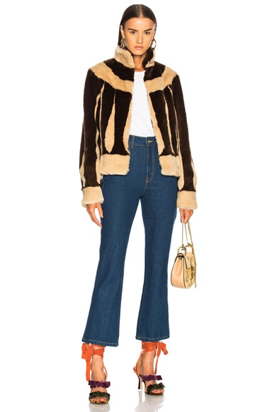 Sara Short Faux Fur Jacket