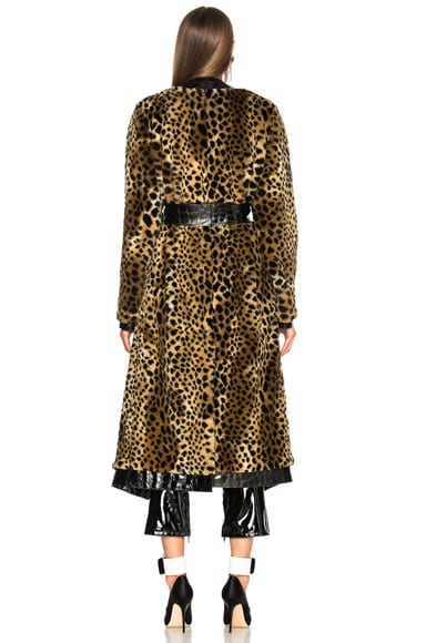 Vivian Faux Fur Trench Coat