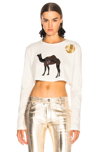 Safari Embroidered Crop Top