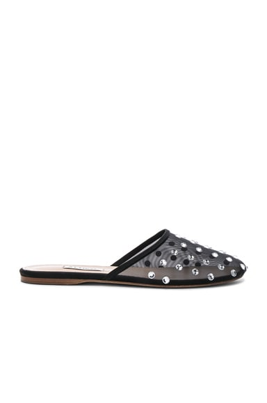 Embellished Mesh Gina Slippers
