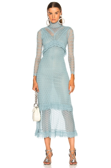 Patchwork Fine Knit Lace Dress
