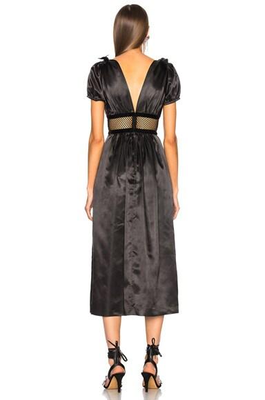 Mesh Waist Maxi Dress