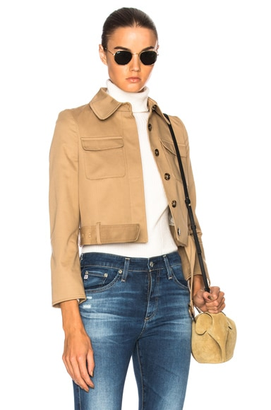 Cropped Patch Pocket Jacket