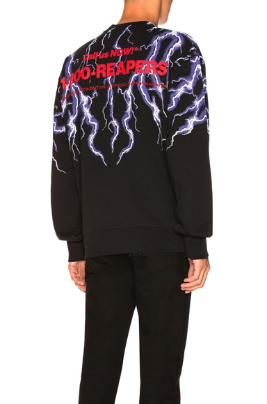 Lightning Collage Loopback Sweatshirt