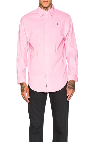 Alexander Wang Corduroy Casual Shirt in Light Pink