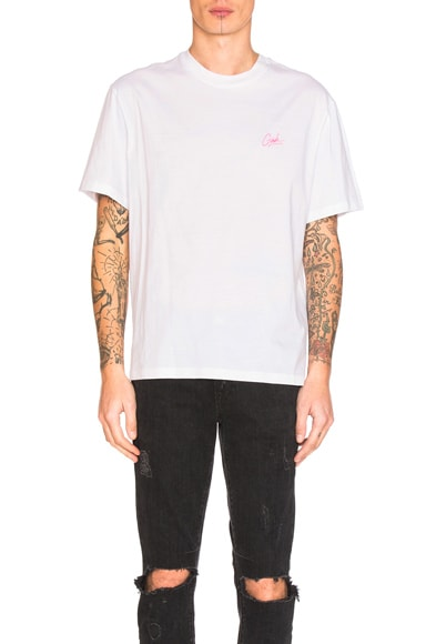 Alexander Wang Girls Embroidery Tee in White