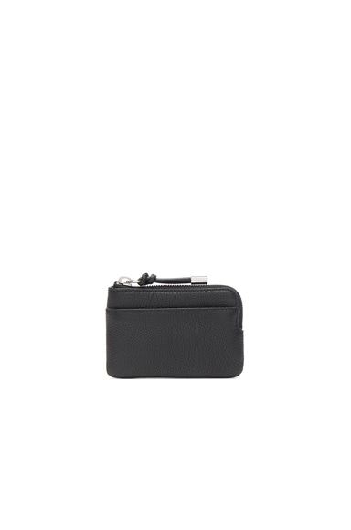Alexander Wang Pebble Leather Zip Wallet in Black