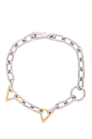 Alexander Wang Mixed Links Necklace in Imitation Rhodium & Yellow