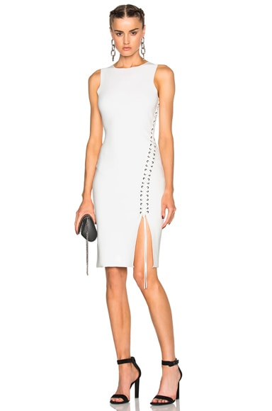Alexander Wang Lace Up Midi Dress in Eggshell