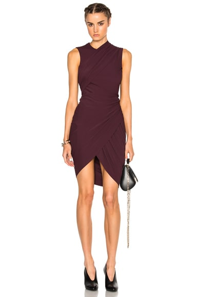Alexander Wang Asymmetric Drape Dress in Balsamic