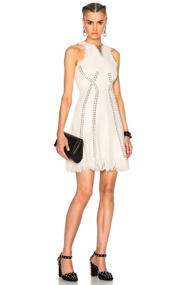 Alexander Wang Barbell Piercing Dress in Ivory