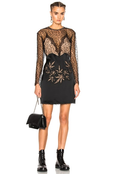 Alexander Wang Lace Leaf Dress in Black