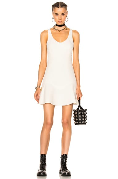 Alexander Wang Fitted Tank Dress in Bone