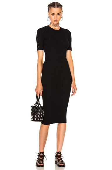 Alexander Wang Crew Neck Tee Dress in Matrix