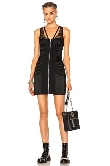 Alexander Wang Bodycon Bustier Mini Dress in Matrix