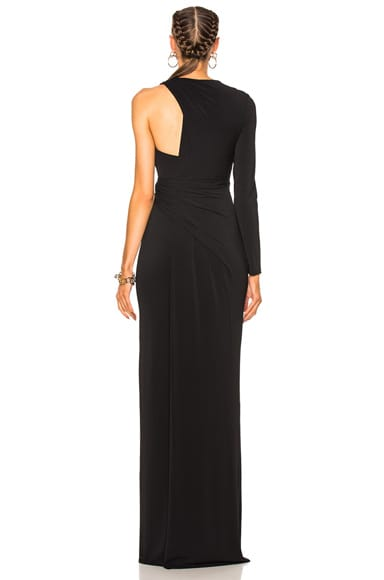 Asymmetric Draped Gown