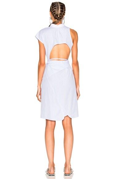 Asymmetric Deconstructed Shirt Wrap Dress