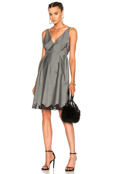 Alexander Wang Low-V A-Line Tunic in Dove Grey