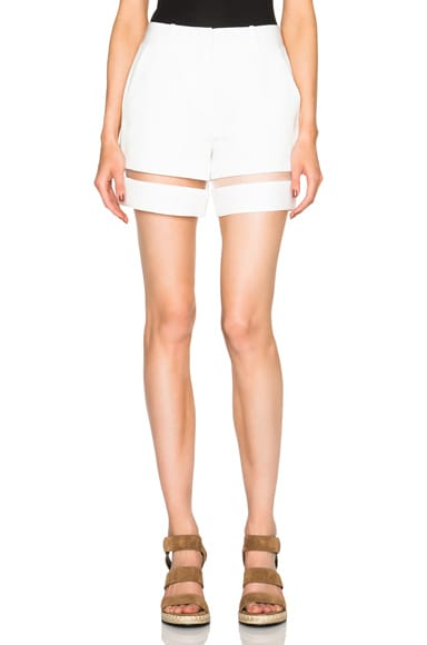 Alexander Wang Suspended Fishline Shorts in Bone