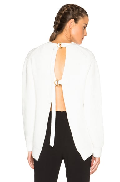 Slit Back Pullover Sweater