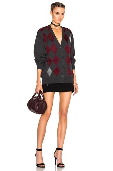 Argyle Cardigan Sweater