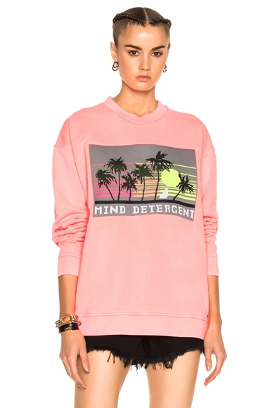 Alexander Wang Oversized Sweatshirt with Knit Patch in Electric