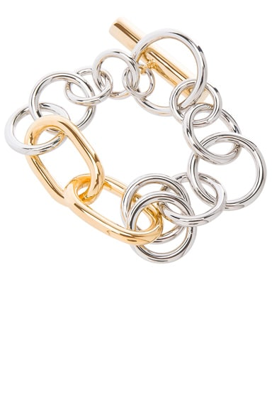 Alexander Wang Toggle Bracelet in Silver & Gold