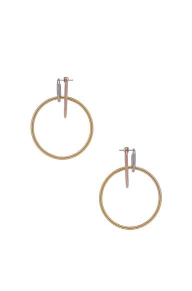 Triple Ring Earring