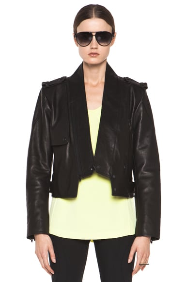 Zip Collar Moto Jacket
